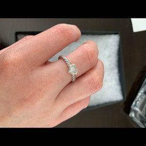 David Yurman Petite Pave Heart Ring with Diamonds